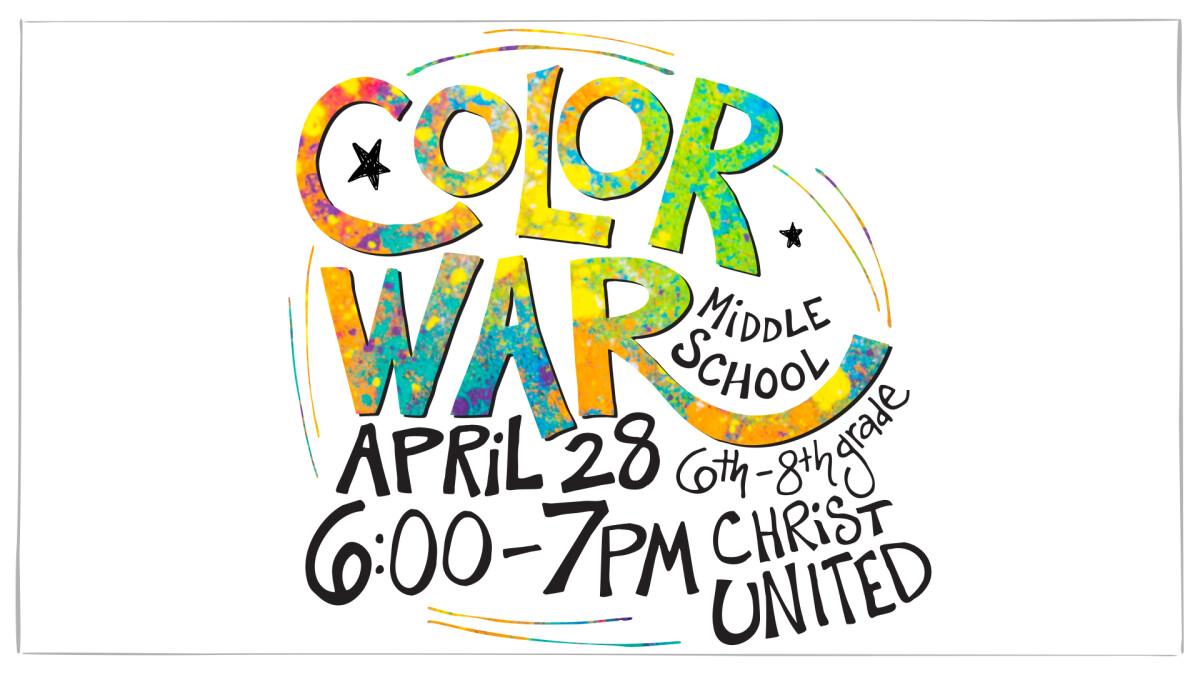 Middle School Color War Night